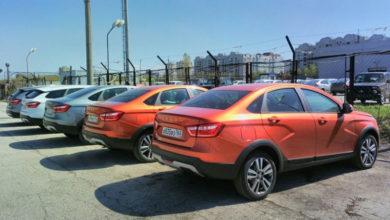 Приподнятые седаны Lada Vesta Cross попали в кадр