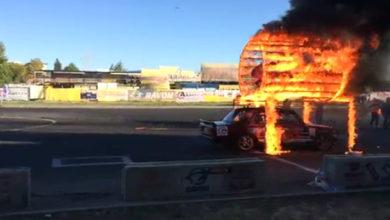 Тренировка каскадера и гонщика в Ростове попала на видео