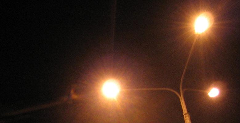 ночь, фонари