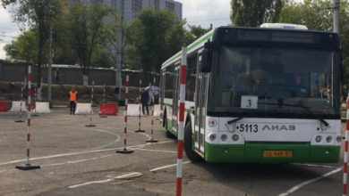 В Ростове прошли соревнования среди водителей автобусов