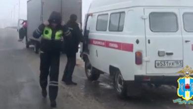 Сотрудники ГИБДД в Ростовской области помогают автомобилистам в сложных погодных условиях