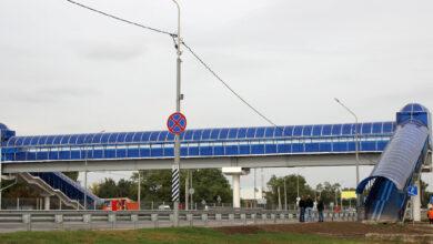 пешеходный переход на Южном подъезде к Ростову